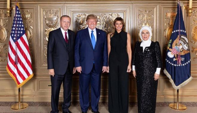 Erdoğan ve Trump yemekte buluştu!