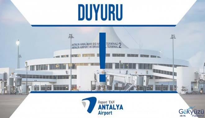 Fraport TAV Antalya Havalimanı duyuru