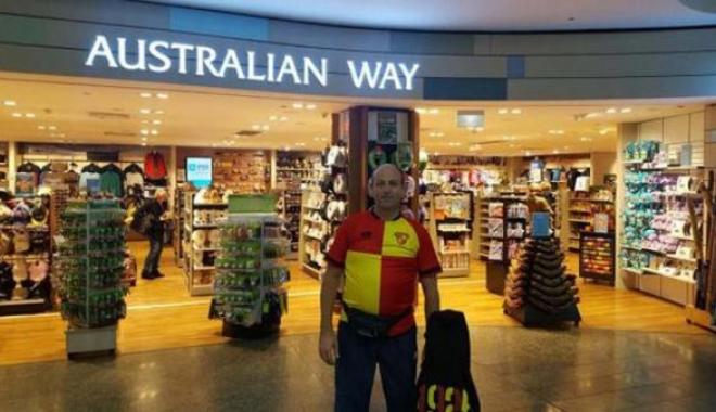 Göstepe-Eskişehir Maçı için Avustralya'dan geldi