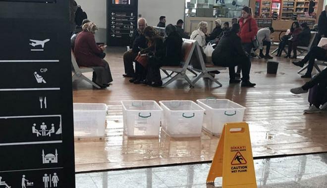 Hatay Havalimanı'nda yine aynı görüntü!