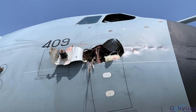Hava Kuvvetleri A400M uçağına kuş çarptı