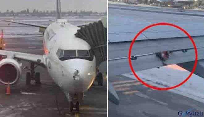 Havalanan Boeing 737 tipi uçağına kuş çarptı