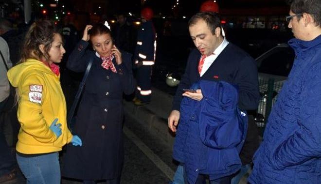 Havalimanı Personel Servisi Kaza Yaptı