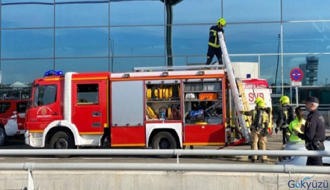 Havalimanı'nda yangın çıktı
