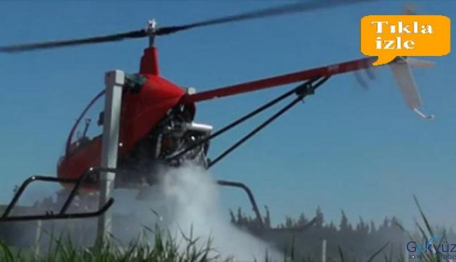 Helikopterde diri diri yanmaktan son anda kurtuldular!