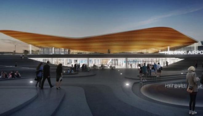 Helsinki Havalimanı yeni ikonik girişi