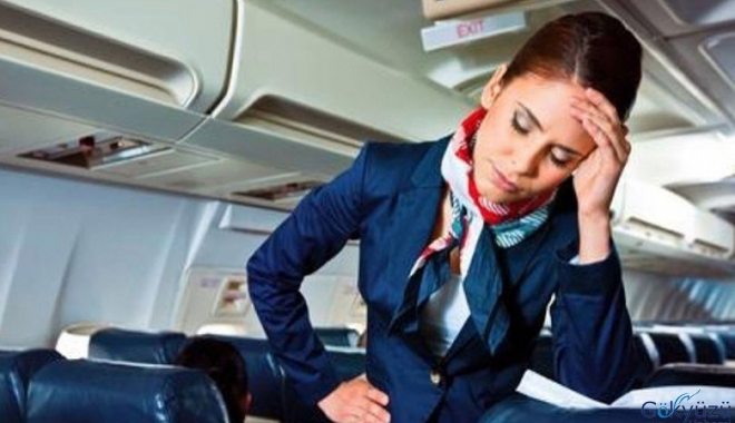 Pilot ve kabin memurlarının stres sorunu