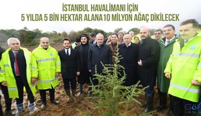 İGA 5 yılda 10 milyon ağaç dikecek!