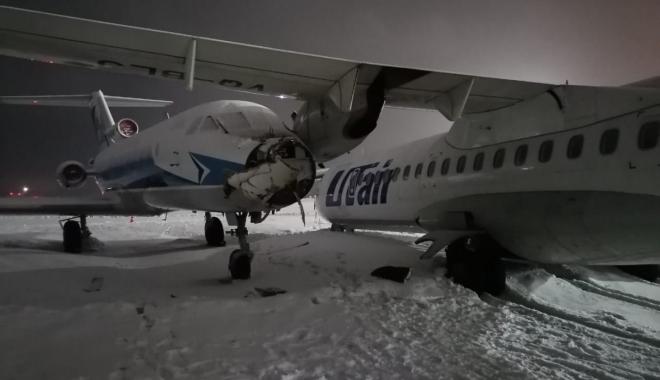 İki uçak pistte çarpıştı