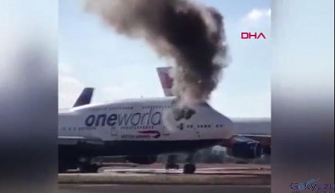 İspanya'da yolcu uçağının kabininde yangın(video)