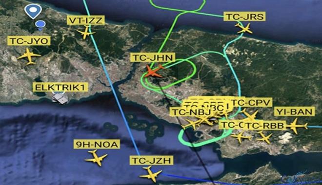 İstanbul hava trafiğine yağmur engeli!
