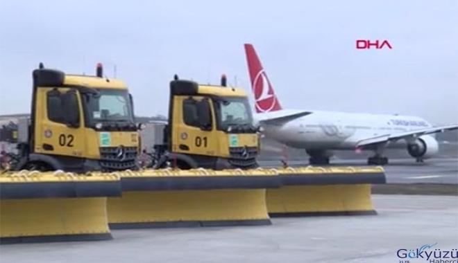 İstanbul Havalimanı'nda kış hazırlıkları tamam(video)