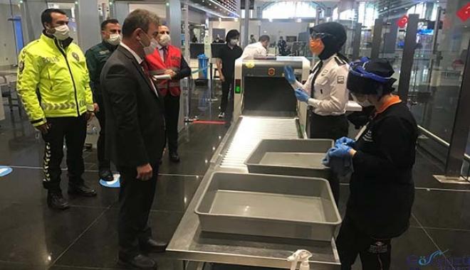 (video)İstanbul Havalimanı'nda koronavirüs denetimi
