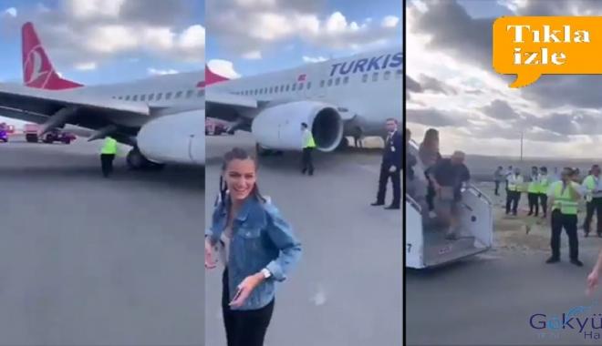 video İstanbul Havalimanı'nda Uçak toprak zemine daldı!