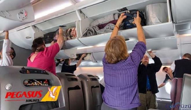 Kabin bagajı uçak içine kabul edilmeyecektir(video)