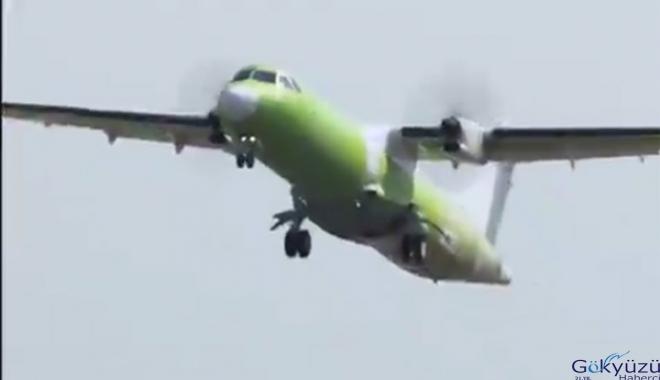 Kargo uçağı ATR 72-600F ilk uçuşunu yaptı(video)
