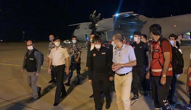 Kargo uçağı Koca Yusuf, Beyrut'a iniş yaptı.
