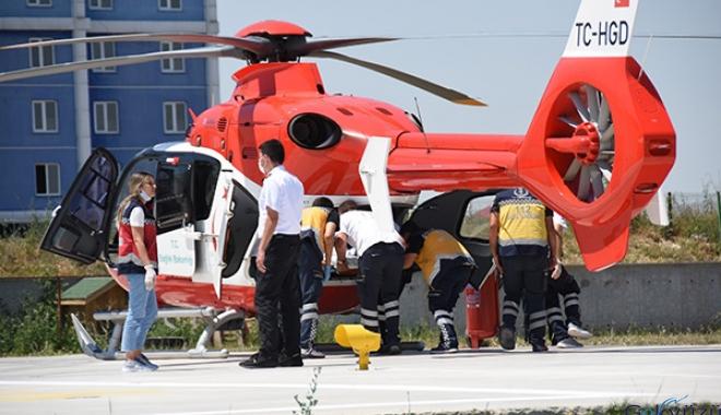 Kartal için iki ambulans helikopter havalandı
