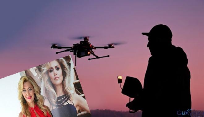 Komşusu drone'la Zeynep Mansur'u izledi