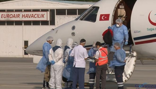 Koronavirüse yakalanan 4 vatandaş, Türkiye'ye getirildi