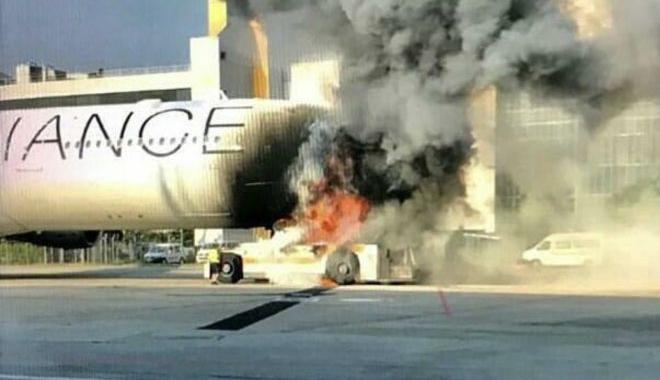 Lufthansa A340 uçağında yangın