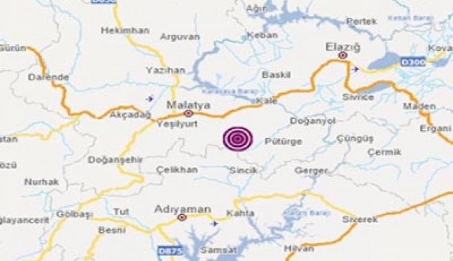 Malatya'da 4.7 büyüklüğünde deprem(video)