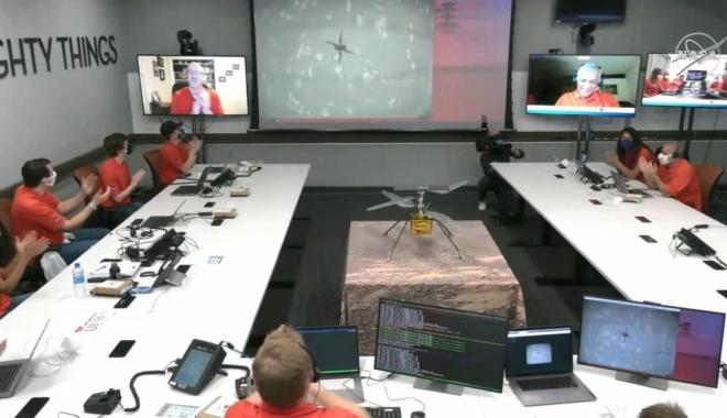 Mars'ta ilk helikopter uçuşu gerçekleşti(video)