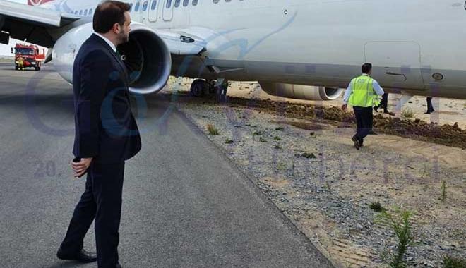 Mart ayı gelmeden THY uçağı taksi yolundan çıktı!