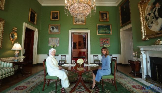 Melania Trump ile Emine Erdoğan dostluğu
