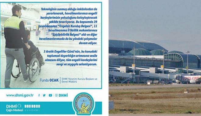 Ocak: 39 Havalimanı Engelsiz Kuruluş belgesi aldı!