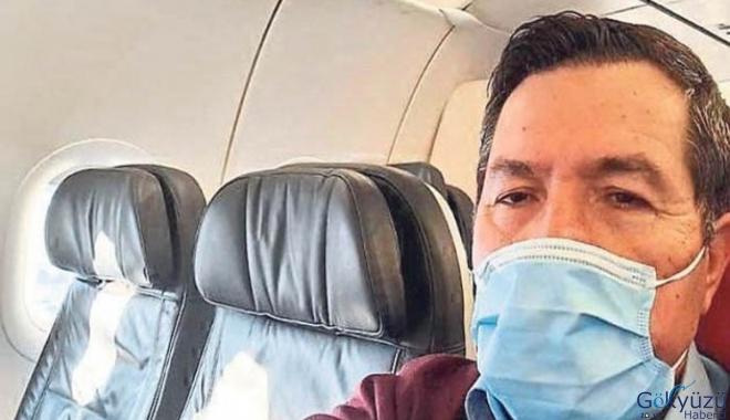 Özel uçakla Türkiye'ye döndü.