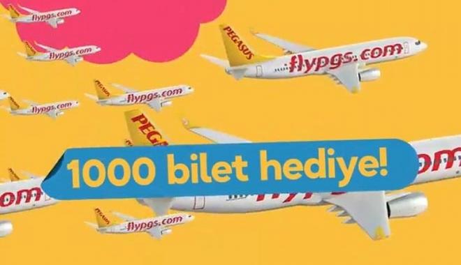 Pegasus'dan 1000 kişiye  gidiş dönüş uçak bileti hediye!video