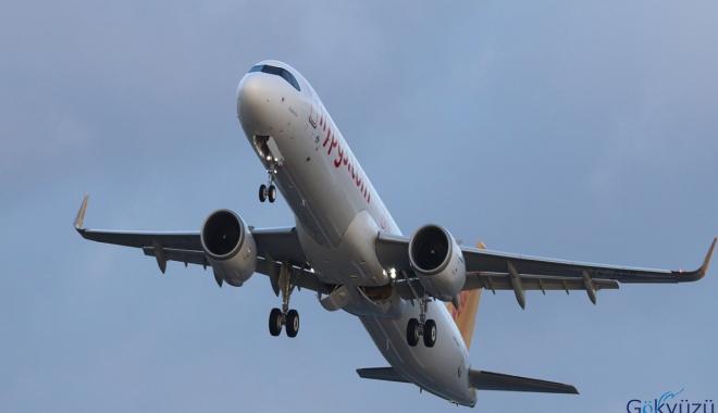Pegasus Havayolları'nın yeni uçağı İstanbul'a geliyor