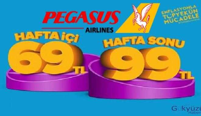 Pegasus'tan 69  ve 99 TL lik kampanya!Son gün 14 Ağustos!