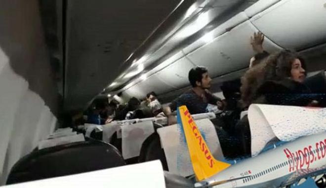 Pegasus uçağında yolcunun kafasına laptop düştü!