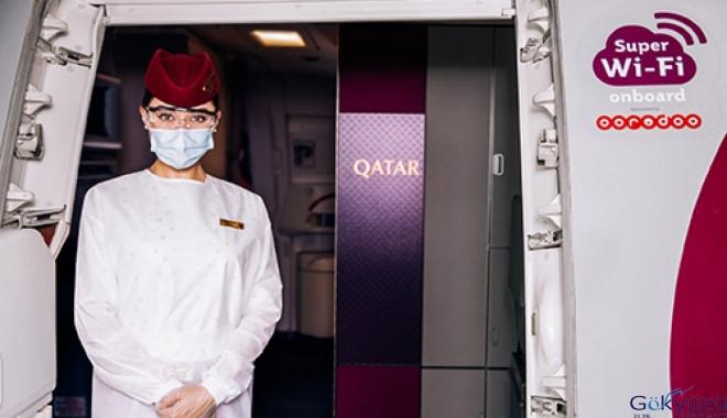 Qatar Airways'in havada Super Wi-Fi hizmeti