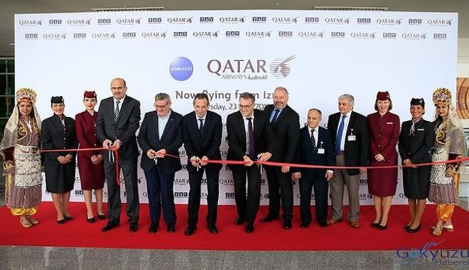 Qatar Airways'in ilk uçağı İzmir'e iniş yaptı!