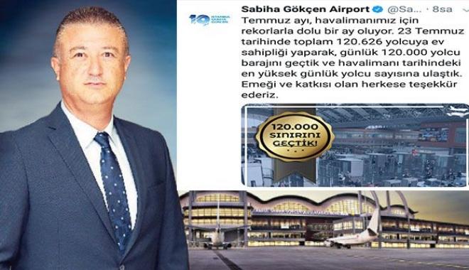 Sabiha Gökçen Havalimanı 120 bin yolcu sayısını geçti!