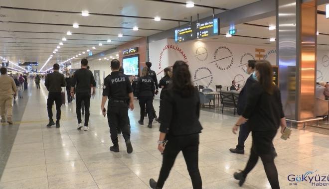 Sabiha Gökçen Havalimanı'nda maske denetimi(video)