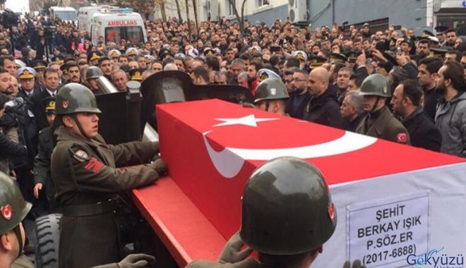 Şehit Işık'ın cenaze törenine 169 askeri personel katıldı