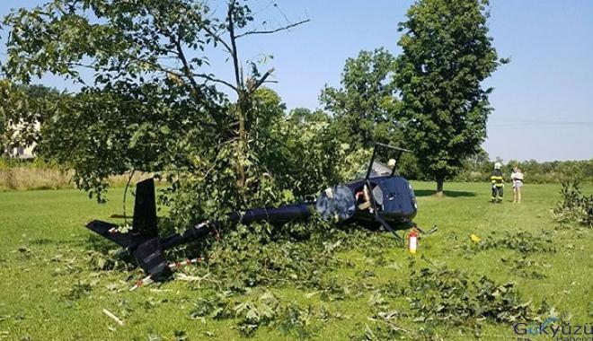 Sivil helikopter düştü: 1 yaralı