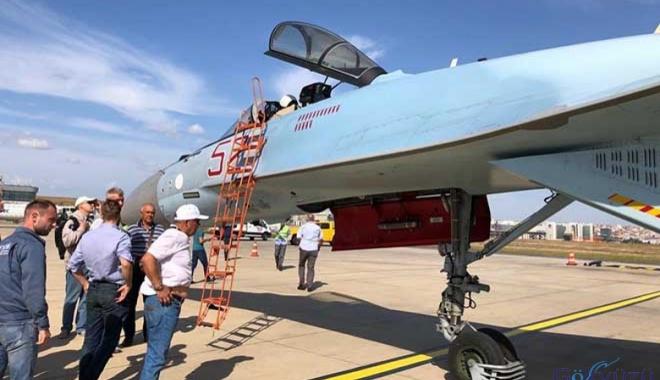 Su-35 İstanbul Atatürk Havalimanı'na indi