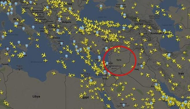 Suriye hava sahası trafiği durdu!