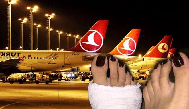 THY ayağı alçıya alınan yolcuya acımadı!