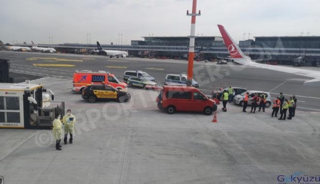 THY uçağında Covid-19 paniği!