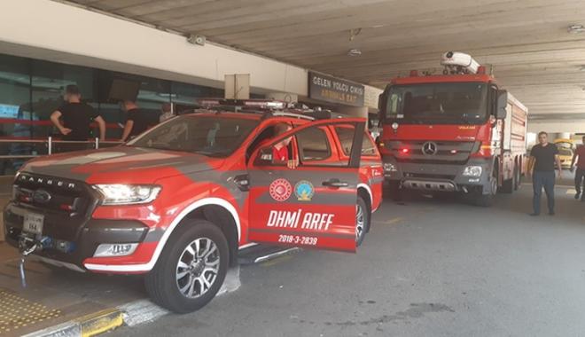 Trabzon Havalimanı'nda yangın paniği