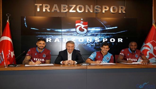 Trabzonspor, yeni transferleri için imza töreni düzenledi