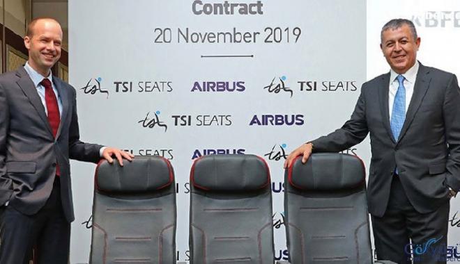 TSI Seats, Airbus'ın 'Onaylı Koltuk Tedarikçisi' oluyor