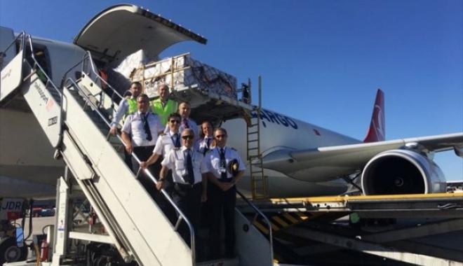 Turkish Cargo'nun Brezilya'ya İlk Uçağı İndi