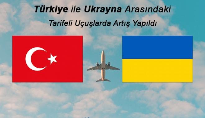 Türkiye ile Ukrayna Arasında Yapılan Tarifeli Uçuşlarda Artış Yapıldı